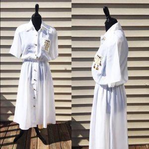 Caron Chicago | Vintage 80's Long White Dress